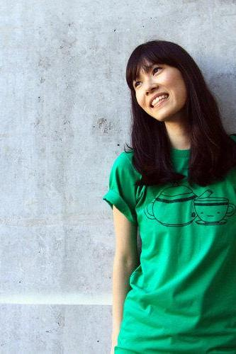 Green Tea Shirt - Kelly Green American Apparel Unisex Mens Womens Crew Neck Tee