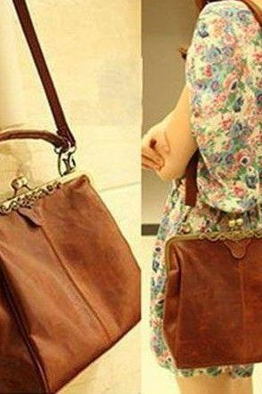 Vintage shoulder tote woman handbag