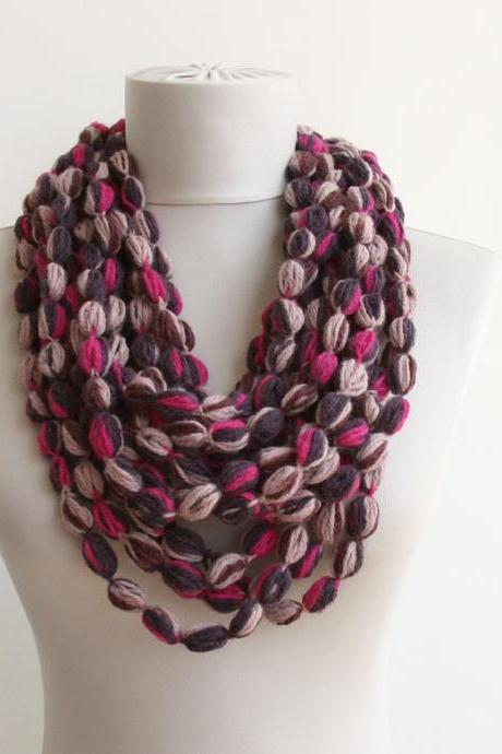 Crochet chain scarf infinty scarf for women