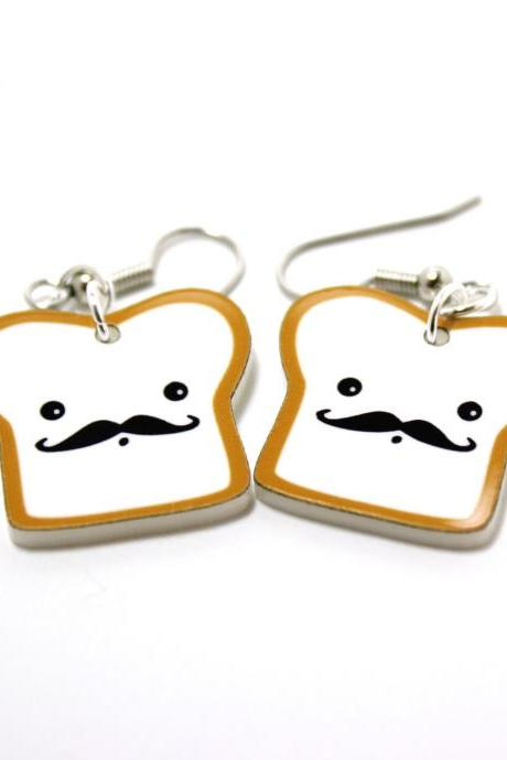 French Toast Acrylic Charm Earrings on Surgical Steel Hooks