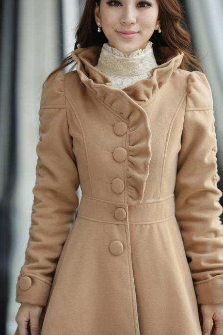 2014 women's long coat autumn and winter coat Winter Coats