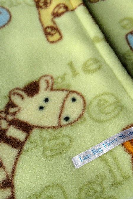 Fleece Toddler / Baby Blanket 'Jungle Friends' BUG HUG for Boys & Girls