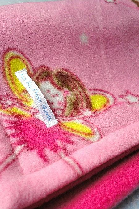 Fleece Toddler / Pink Baby Blanket 'Dancing Fairies' BUG HUG for Girls