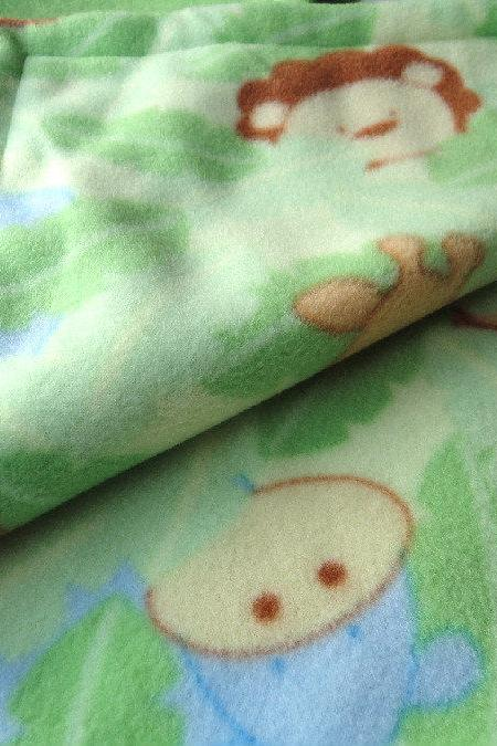 Fleece Toddler / Baby Blanket 'Monkey Business' BUG HUG for Boys & Girls