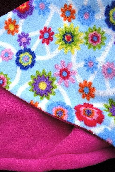 Toddler / Baby Fleece Blanket 'Pink Peace' BUG HUG for Girls