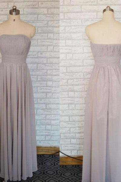Gray Prom dress, Grey Formal Long Chiffon Lace Cheap Prom dress 2015,long party dress ,elegant Fashion prom dress