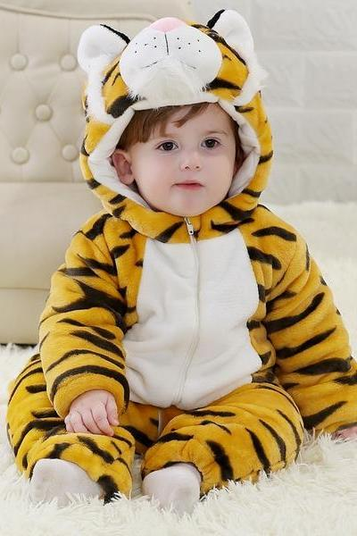 TIGER ECO FRIENDLY BABY HOODIE VEST BABY CLOTHES UNISEX PLAYSUITS ROMPER TODDLERS JUMPSUIT GIFT FOR NEW BABYFASHION BABY, FOR NEW BABY,Christmas Baby,cute baby onesie,1st Birthday Owl Bodysuit,Funny Baby Clothes