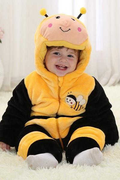 Bee Winter Type Unisex Playsuits Romper Toddlers jumpsuit for baby, FOR NEW BABY,Christmas Baby,cute baby onesie,1st Birthday Owl Bodysuit