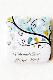 Personalised Magnet Wedding Favor