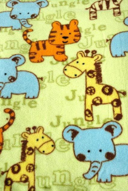 PackNPlay Sheets: PlayYard Sheets - Fleece Bedding for Babies - Shower Gift 'Jungle Friends' Print Fits Pads (27x39 inches)