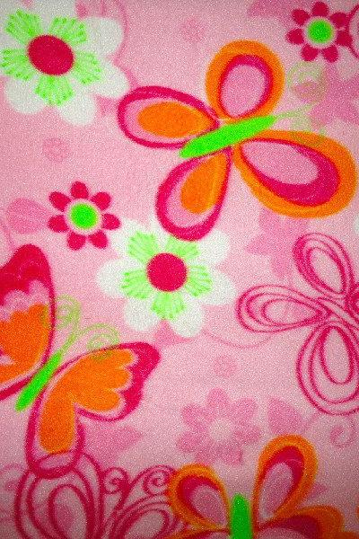 Pink Butterflies for Girls : Cozy Fleece Fitted Sheets Fits Cribs and Toddler Beds