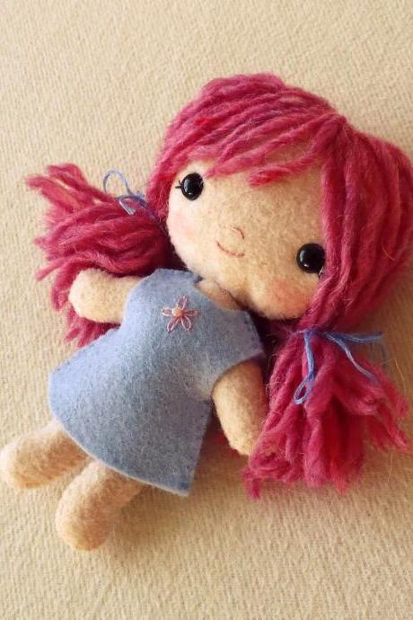 Doll pdf Pattern, Doll Pattern, Plush Doll, Easy Pattern