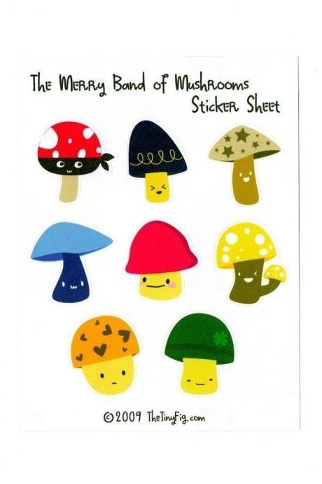 Merry Band of Mushrooms Sticker Sheet