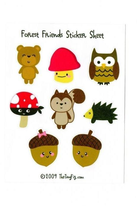Forest Friends 1 Sticker Sheet