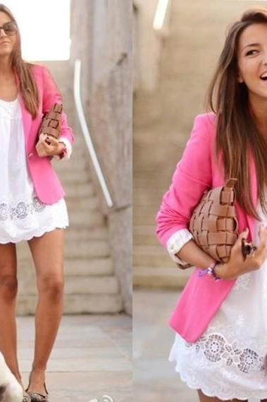 Candy Color Ladies Blazer Suit