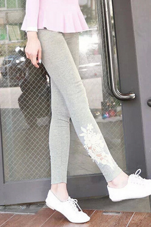 Women's Leggings stretch significantly thin carved hollow outer wear tight pants nine points