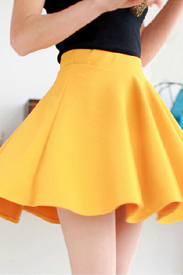 Women's backing big swing the sun skirt pleated skirt