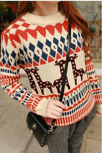 Fawn Hedging Sweater