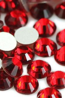 1440p flat back crystal rhinestones SS12 (3.0mm) High Quality Red (Light Siam) No Hotfix