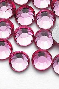 1440 pcs SS12 (3.0mm) High Quality Crystal Flatback Rhinestones - 2028 Deep Pink (Rose 209) No Hotfix