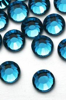 1440pcs Flat back Rhinestones Crystal in Supreme Quality - SS12 (3.0mm) Teal Blue Zircon 229 Non Hotfix