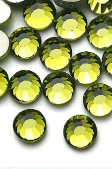 1440 pcs SS12 (3.0mm) High Quality Crystal Flatback Rhinestones - 2028 Olive Green (Olivine) No Hotfix