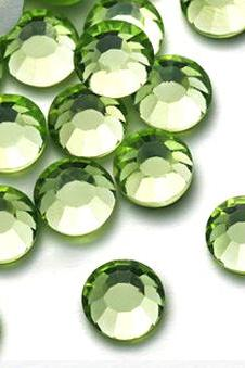 1440pcs High Quality Crystal Flatback Rhinestones - SS12 (3.0mm) Light Green (Peridot 214) No Hotfix