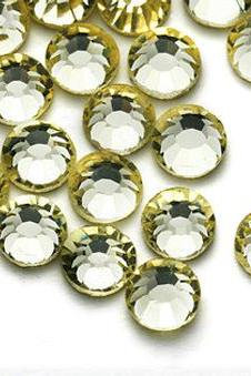1440pcs Flatback Crystal Rhinestones High Quality - SS12 (3.0mm) Pale Yellow (Jonquil 213) No Hotfix