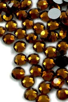 1440 pcs SS12 (3.0mm) High Quality Crystal Flatback Rhinestones - 2028 Dark Brown (Mocca 286) Non Hotfix