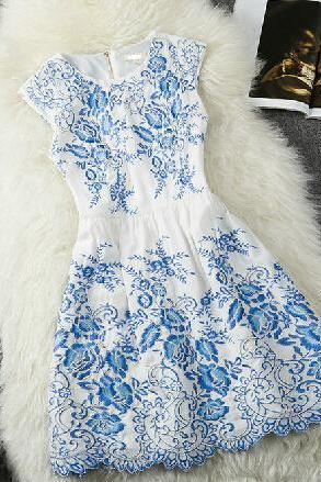 Delicate Embroidered Dress