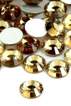 1440 pcs ss12 3mm Light Colorado Topaz Champaign High Quality Cyrstal/ Glass Flatback Rhinestones