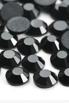 1440pcs Flatback Crystal Rhinestones in Supreme Quality - SS12 (3.0mm) Jet Black 280 No Hotfix