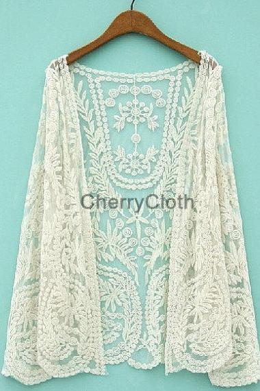 Women Lace Cardigan, Women Clothes