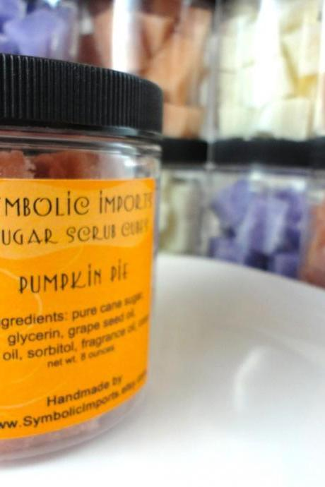 Pumpkin Pie - Sugar Scrub Cubes - Fall Scent Limited Edition