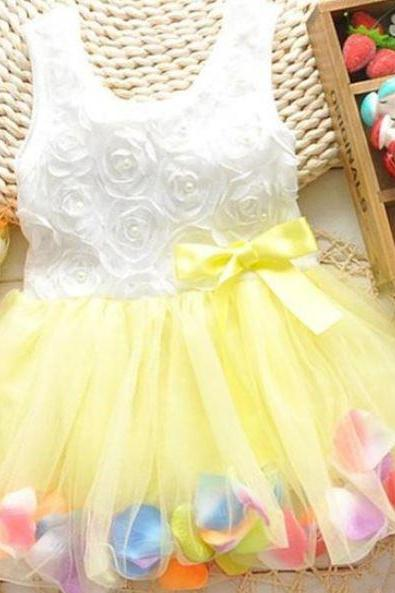 Yellow Dress for Infant 3-6 months baby Yellow Petal Dress