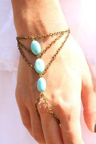 Beautiful Bohemian Turquoise and Gold Layered Bracelet
