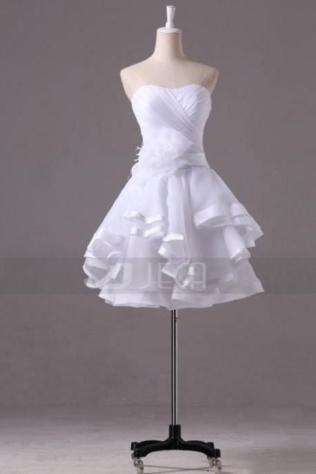 Chic Mini-length Wedding Dress Short Adorable Wedding Dress Summer Wedding Dress Beach Wedding Dress Honeymoon Outfits