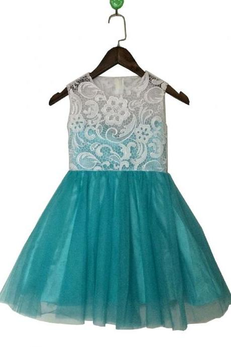 Ulass Lace A-line Tulle Flower Girl Dresses Flower girl Children Clothing Dress Flower Girl Dress Easter party Dress Infant Dress Toddler Dress Kids Dress Children Dress Christmas Dress New Years Dress Birthday Party Dress