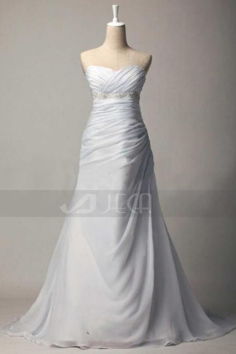 A-line Casual Wedding Gown Summer Wedding Dress For An Outdoor or Beach Wedding