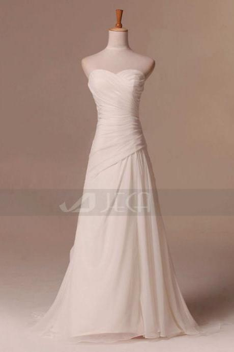 Simple Beach Wedding Dress Summer Wedding Dress Outdoor Wedding Dress The Beaded Sash Is Available to Order
