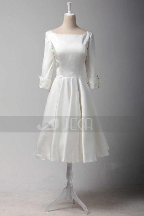 1950s Inspired Vintage Style Wedding Dress Vintage Short Wedding Dress Tea-length Wedding Dress