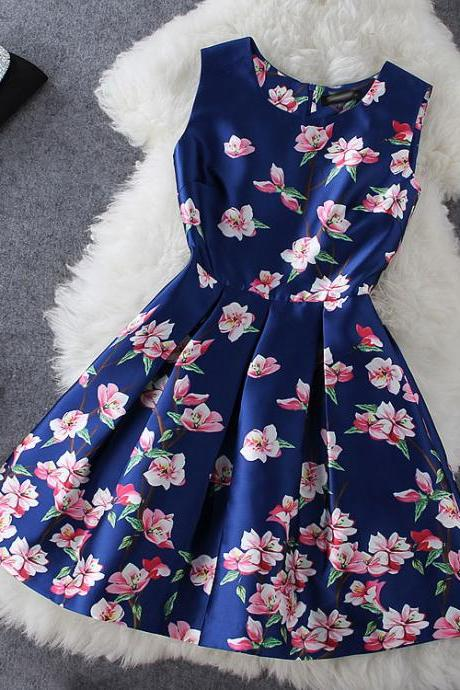 Floral Dress In Blue