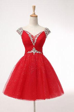 Lovely Short Ball Gown Sweetheart Prom Dress with Beadings, Ball Gown Prom Dresses, Homecoming Dresses, Lovely Dresses