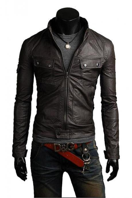 Handmade Custom New Men Slim Fit Rider Unique Leather Jacket, men leather jacket, Leather jacket for men, Biker Leather Jacket, Motorcycle Jacket