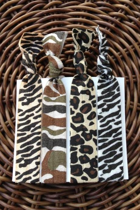 Safari Elastic Hair Ties (and bracelets) Collection