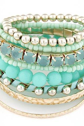 Beautiful 9 Pieces Stack Bracelet