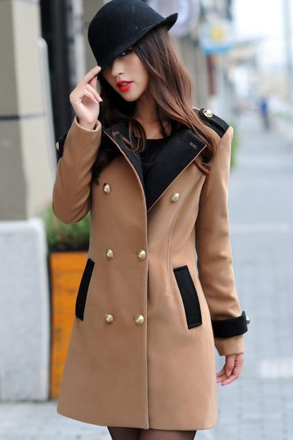 Winter Essential Double Breasted Long Coat - Dark Khaki