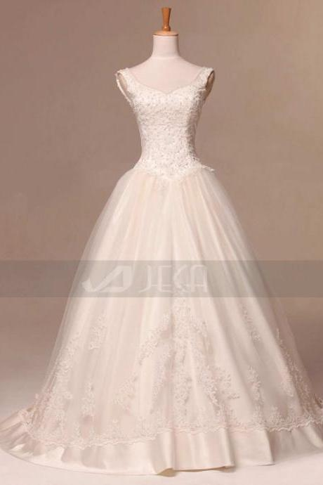 Vintage Inspired Fairytale Wedding Gown Debutante Gown Available in Plus Sizes