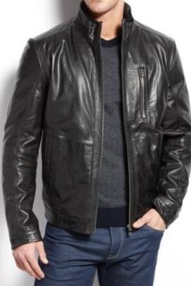 HANDMADE BLACK LEATHER JACKET, MEN'S FASHION LEATHER JACKETS, BLACK LEATHER JACKET MEN