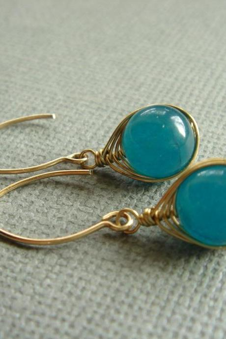 Stunning Apatite 14k Gold Filled Earrings